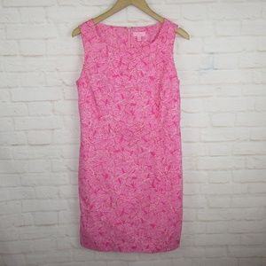 Lilly Pulitzer Pink Butterfly Sheath Dress